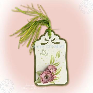 Image de Label with foam flowers