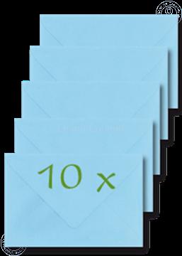 Bild von Briefumschläge 12x17,5cm hell blau