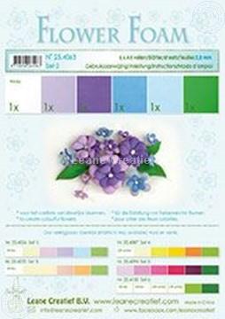 Bild von Flower foam set 2 blau/violet