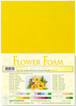 Bild von Flower foam A4 sheet sunflower yellow