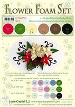 Bild von Flower foam set 9 Braun/Rot/Grün