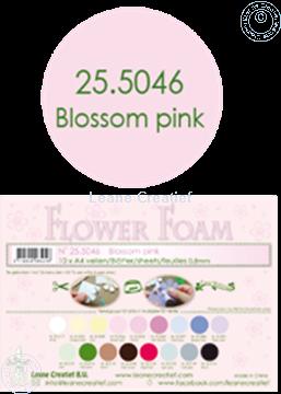 Afbeeldingen van Flower foam A4 sheet blossom pink