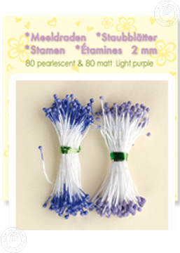 Image de Étamines ± 80 matt & 80 pearl light purple