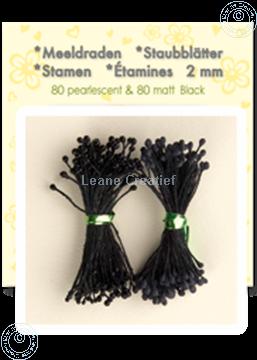 Afbeeldingen van Meeldraden ± 80 matt & 80 pearl black