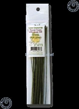 Afbeeldingen van paper wrapped wire #28 dark green