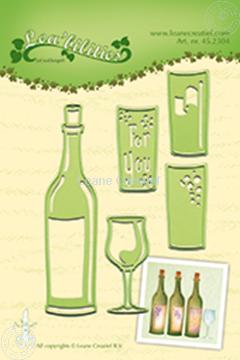 Afbeeldingen van Wine bottle & glass