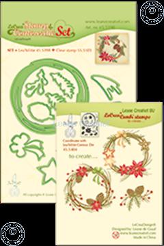 Afbeeldingen van Set Lea'bilitie&Clearstamp Christmas wreath