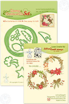 Image de Set Lea'bilitie&Clearstamp Christmas wreath