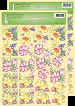 Afbeeldingen van LeCreaDesign® Bloemen knipvellen