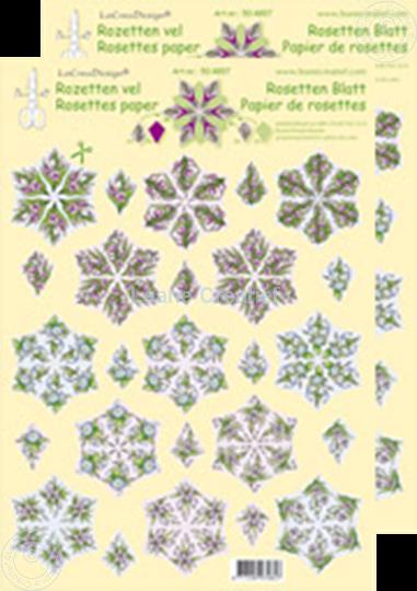 Afbeelding van Rozetten knip- en snijdvellen Bloemen rood/blauw