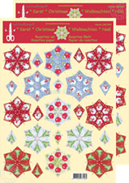 Bild von Weihnachten Rosetten Schneideblätter divers