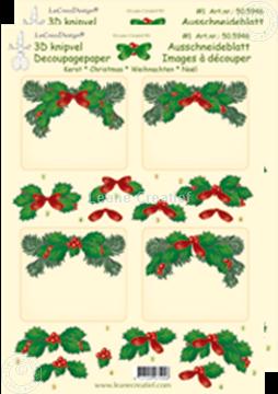 Afbeeldingen van Kerst knipvel rechthoek