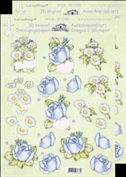Afbeeldingen van LeCreaDesign® knipvellen margrieten/roen