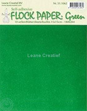 Afbeeldingen van Flock paper green 15x15cm