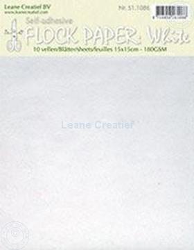 Afbeeldingen van Flock paper white 15x15cm