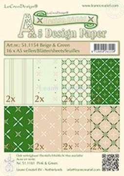 Picture of Design sheets beige & green A5