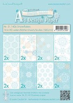 Picture of Winter design paper Snowflakes