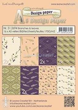 Afbeeldingen van Design paper branches & leaves