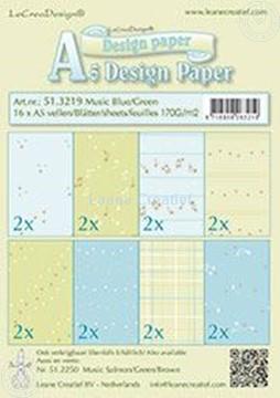 Bild von Design Paper Music blue/green