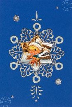 Picture of Mylo & Friends® 3D sticker Christmas card kits snowflake #5