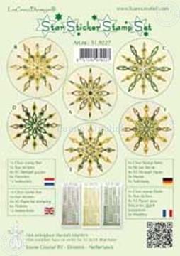 Afbeeldingen van Star sticker stamp set