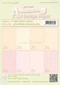 Image de Feuilles décorées Pink & Ochre A5