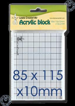 Image de Acrylic block 85x115x10mm