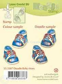 Picture of Doodle stamp Baby shoes