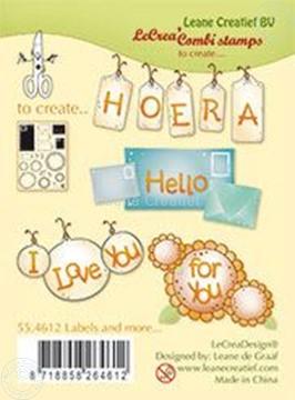 Bild von Clear stamp Labels and more