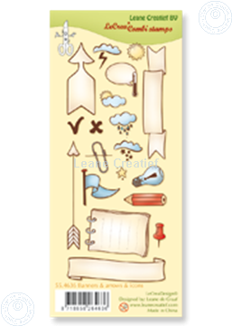 Image de Clear stamp Banners, arrows & icons