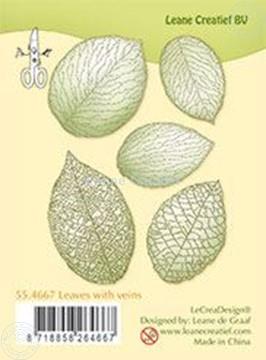 Bild von Clear stamp leaves with veins
