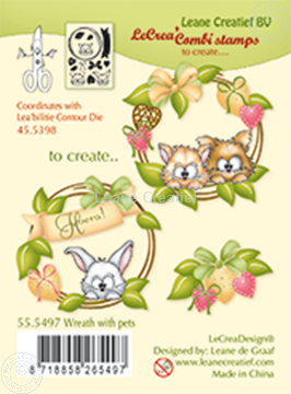 Picture of Combi stamp Wreath with pets