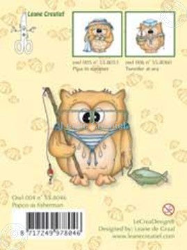 Image de Clearstamp Owlie´s Owl004 Popco as fisherman