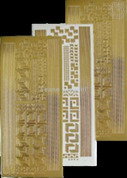 Afbeeldingen van LeCreaDesign® hoek&lijn sticker goud