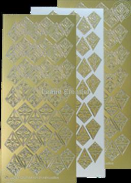 Picture of LeCreaDesign® Rosettes stickers / peel offs gold