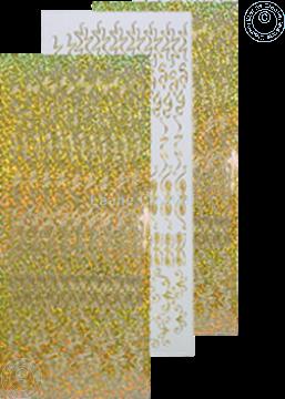 Afbeeldingen van LeCreaDesign® Rozetten stickers #2 goud diamond