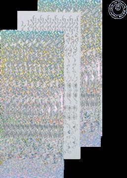Picture of LeCreaDesign® Rosettes stickers #2 silver diamond