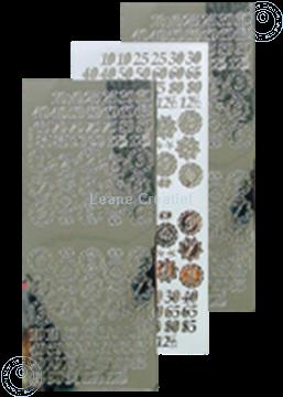 Bild von LeCreaDesign® Sticker Jubiläum Nummern mirror silber