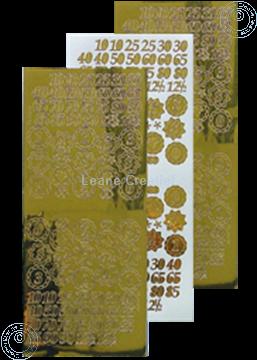 Bild von LeCreaDesign® Sticker Jubiläum Nummern mirror gold