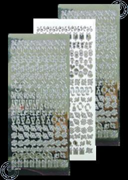 Afbeeldingen van LeCreaDesign® kantornament sticker mirror zilver