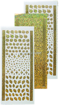 Picture of Stickers Christmas ornaments & holly diamond gold