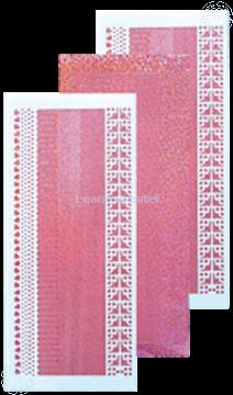 Image de Sticker de lignes diamond rose