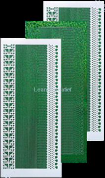 Image de Sticker de lignes diamond vert