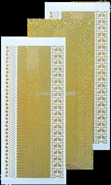 Image de Sticker de lignes diamond d'or