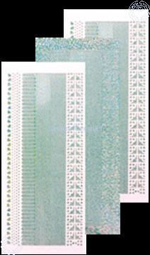 Image de Sticker lignes diamond silver