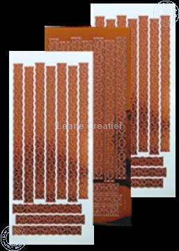 Afbeeldingen van LeCreaDesign® Lace sticker mirror copper