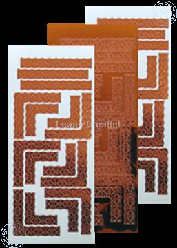 Picture of LeCreaDesign® Lace corner sticker mirror copper