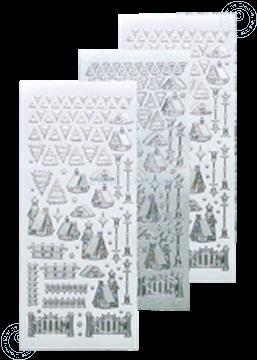 Picture of Winter scenery sticker #40 silver
