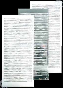 Picture of LeCreaDesign® Alfabet stickers mirror silver