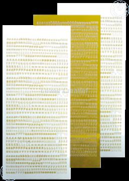 Picture of LeCreaDesign® Alfabet stickers mirror yellow
